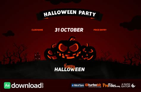 template after effects party free halloween party opener videohive project free download