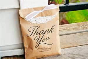 Paper Bag Wedding Favors by Brown Paper Thank You Bags Wedding Favor Bag Thank You
