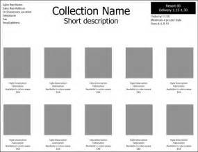 Clothing Line Sheet Template by Line Sheet Template Sadamatsu Hp