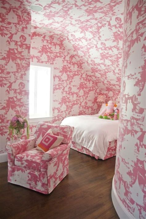 red toile bedroom pink girl room transitional girl s room zoe feldman