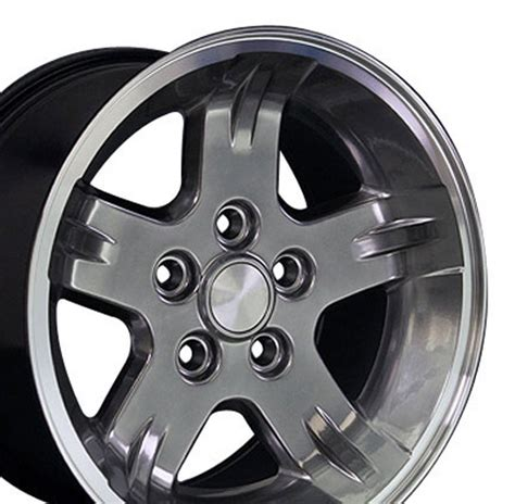 15 Jeep Tires 15x8 Hyper Black Machined Wrangler Style Wheel 15 Quot