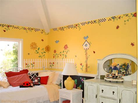 painted murals for rooms room wall murals exles of wall murals for girlswall murals by colette