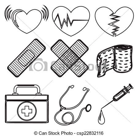 nurse tools coloring page illustration of the doodle design of the different medical