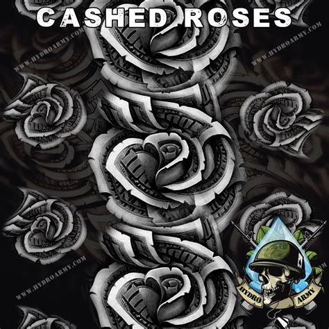 printable hydrographic film cashed roses new hydrographic water transfer printing