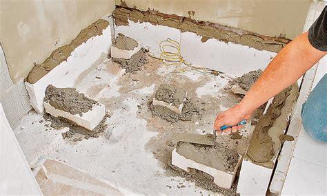 duschtasse einbauen duschwanne einmauern gispatcher