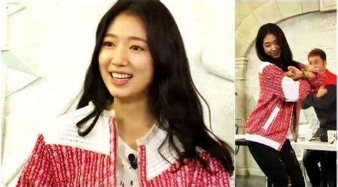 Jaket Wanita Korea Soo Youn foto park shin hye pamerkan jaket wool di infinity challenge merdeka