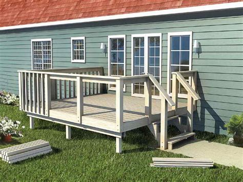 mobile home deck plans how to how to make 12 x 20 deck plans with white fence