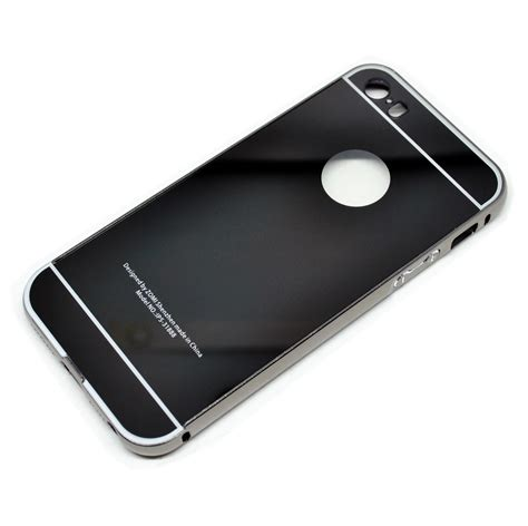 Aluminium Bumper Iphone 5 aluminium bumper with mirror back cover for iphone 5 5s se