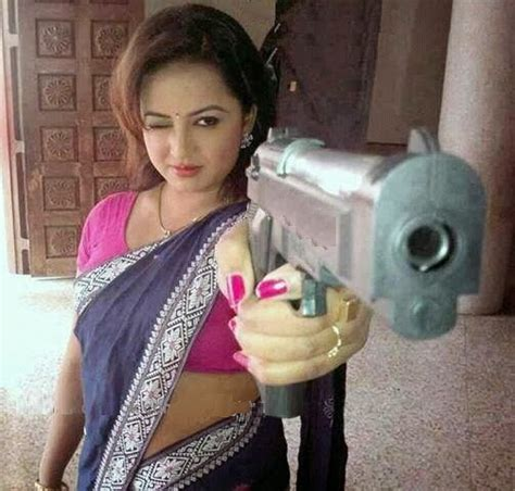 hot funniest indian women with gun funny photo funny pictures blog