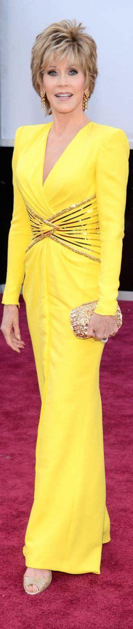 jane fonda yellow dress oscars red carpets jane fonda and red carpets on pinterest