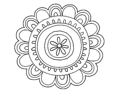 Happy mandala coloring page   Coloringcrew.com