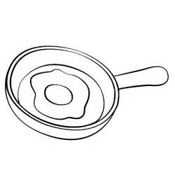 pan coloring pages fried egg on frying pan coloring pages print