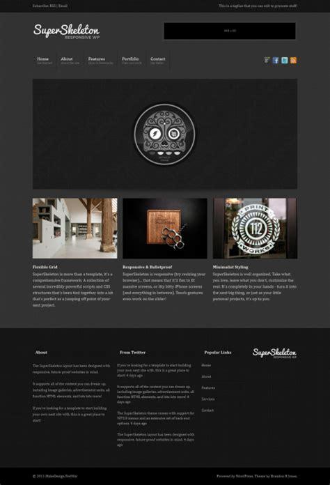 Skeleton Responsive Template skeleton responsive template images templates design ideas