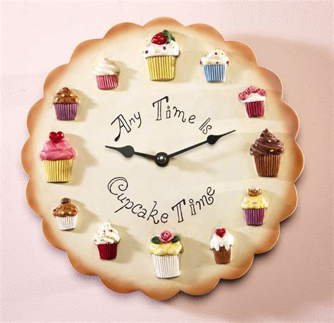 kitchen accessories cupcake design cupcake kitchen decorative wall clock