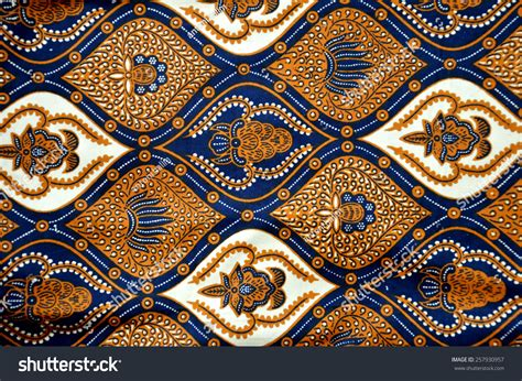 indonesian pattern detailed patterns indonesia batik cloth stock photo
