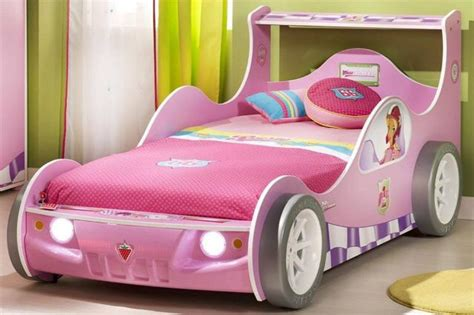 girls car bed pink race car bed for little girl bedrooms pinterest