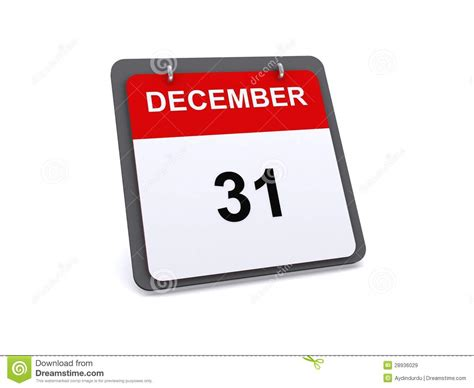 new year 31 december 31 icon or symbol stock illustration