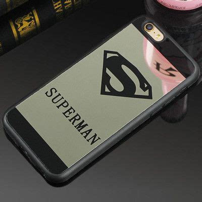Op4835 Luxury Superman Superwoman Mirror Soft For Iphone Kode Bi luxury superman superwoman mirror surface tpu for iphone 7 7 plus 6s 6 plus 5 5s se chrome