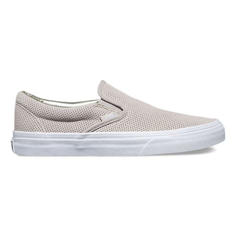 Vans Slipon perf suede slip on shop shoes at vans