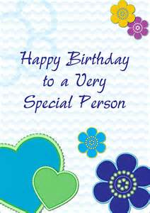 birthday card special person free printable birthday cards