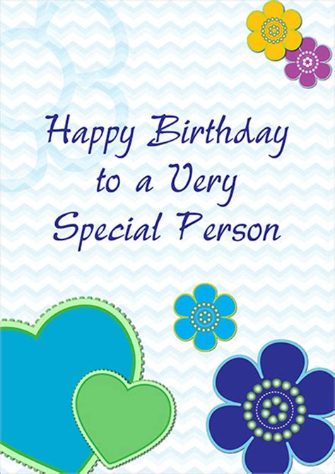 Birthday Card For A Special Person Free Printable Birthday Cards