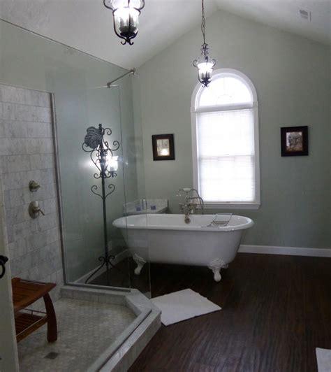 clawfoot tub traditional bathroom carrara marble custom wedi shower clawfoot tub