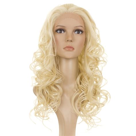 Hair Wigs | blonde long lace front curls holly wig human hair blend