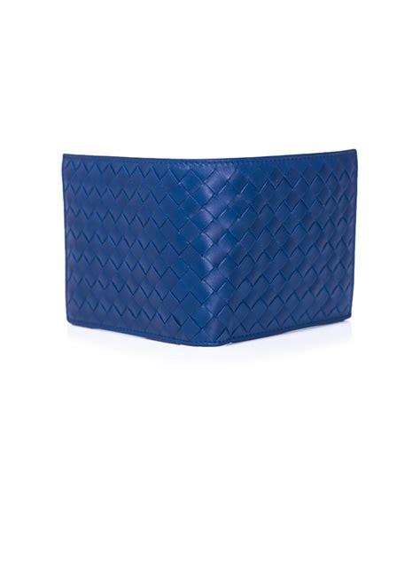 Jual Dompet Bottega Veneta Intreciatto Bi Fold Wallet Mirror Quality 4 bottega veneta intrecciato woven leather bifold wallet in blue for lyst