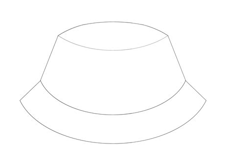 fisherman hat clipart 13 bucket hat coloring page
