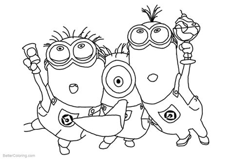minion pictures to color minion coloring pages time free printable coloring