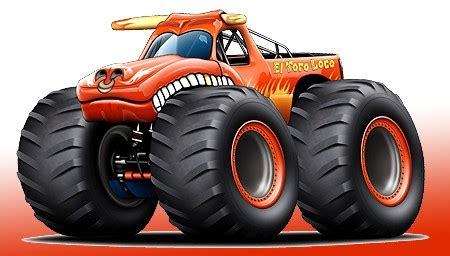 el toro loco monster truck cartoon art print new ebay