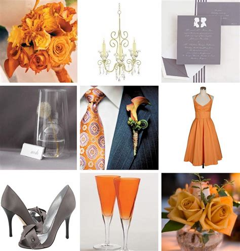 orange color theme orange and gray wedding colors relaxedbride