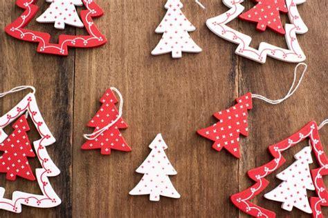 shaped ornaments photo of stylish wooden tree shaped ornaments
