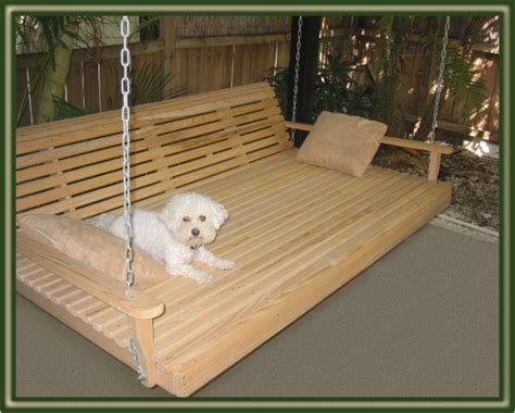 how to build a bed swing outdoor swing bed plans