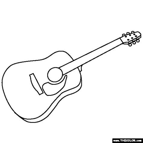 coloring pages of guitar guitar coloring page coloring pages pinterest