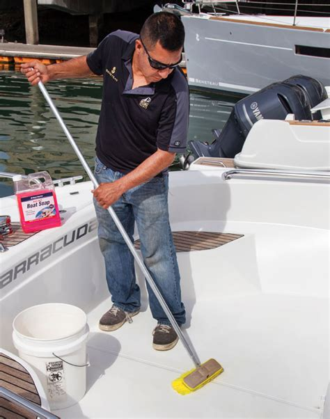 cleaning non skid boat deck keep your non skid decks clean west marine
