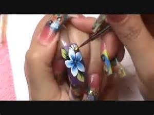 Mano alzada one stroke step by step nails design youtube
