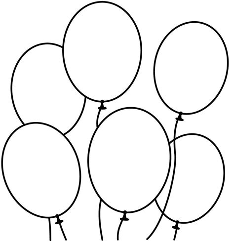 balloons coloring pages preschool balloon coloring pages printable coloring home