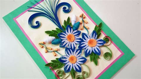 Quilling Designs by Quilling Greeting Card For Birthday Paper Quilling Art
