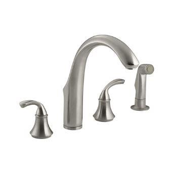 kohler brushed nickel kitchen faucet kohler k 10445 bn forte widespread kitchen faucet