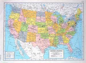 us map book united states map central america map 1947 large 2 sided book