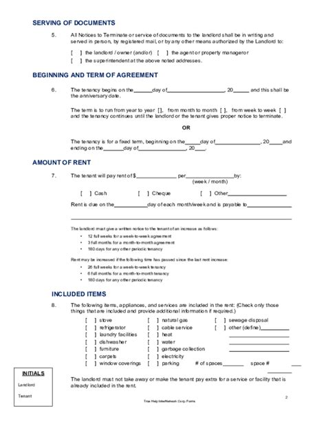 lease agreement template alberta residential lease agreement alberta free