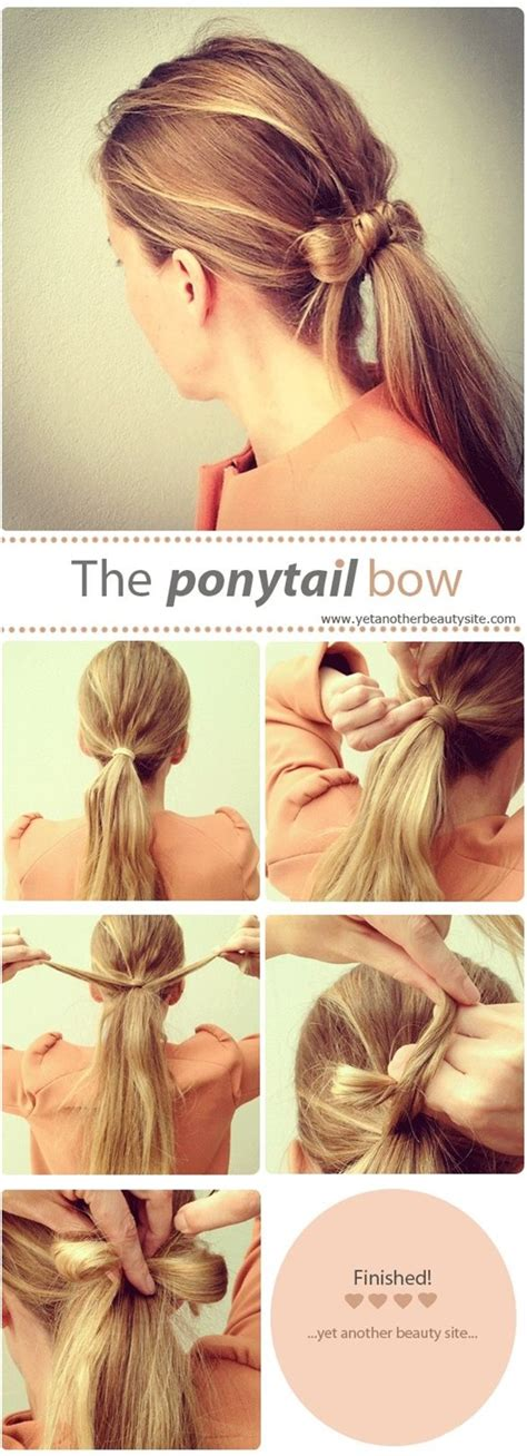 simple  chic ponytail hairstyles pretty designs