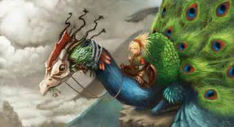 47 Gorgeous Peacock Images peacock dragon by deevad on deviantart