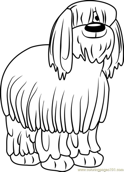 sheep dog coloring page pound puppies niblet the old english sheepdog coloring