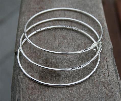 sterling silver personalized bangle bracelet custom name