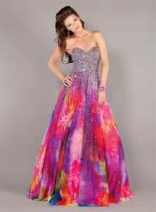 jovani 6757 rainbow print dress magicmomentsprom com