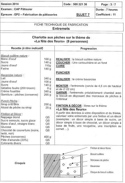 la fiche technique en cuisine cap p 226 tissier en candidat libre les fiches techniques de