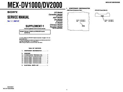 Auto Radio Sony Mex Dv1000 500kn Sony Mex Dv2200 Wiring Diagram 30 Wiring Diagram Images Wiring Diagrams Eliteediting Co
