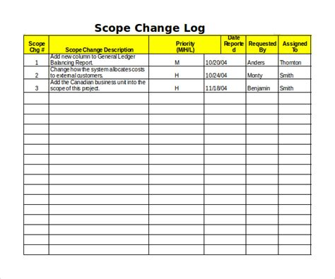 change log template sle change log template 9 free documents in pdf